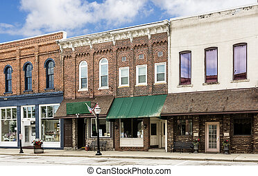 Small Town Main Street - A photo of a typical small town ...