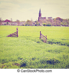 Small Town - Meadows on the Outskirts of a Small Dutch Town...