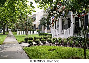 Small Town Neighborhood - neighborhood in a quaint small...
