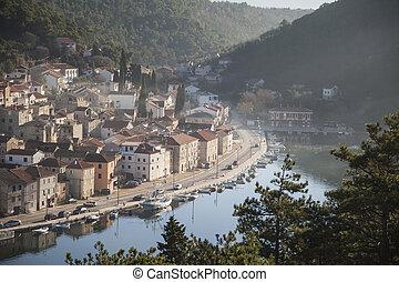Small town Novigrad in Croatia