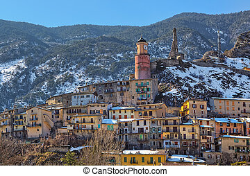 Small town of tende in Alps.