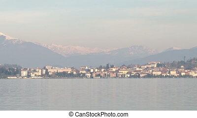 Small town on Lake Maggiore
