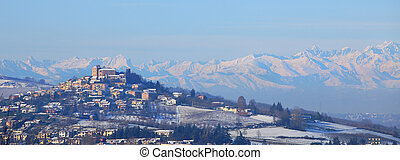 Small town on the hill in Piedmont.