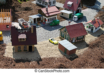 Small town - Scaled model of a small town