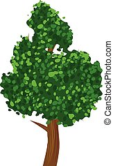 Small tree vector icon