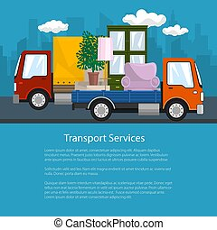 Small Truck and Lorry with Furniture, Flyer