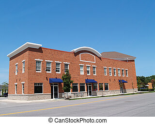 Small Two Story Brick Store Front
