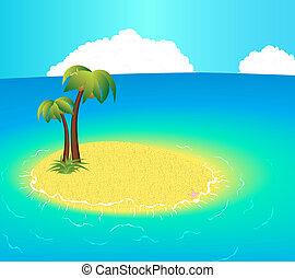 Small uninhabited Island