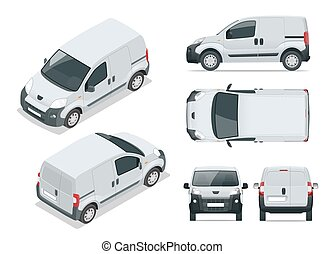 Small Van Car. Isolated car, template for car branding and...