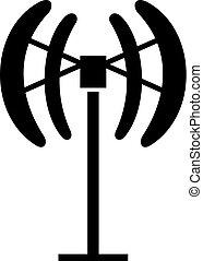 Small vertical wind a turbine
