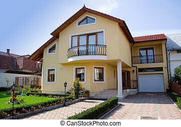 small villa in a residential zone from a city in transylvania