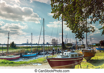 Small village and big harbor