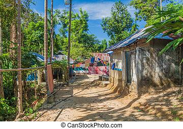 Small village in Lowacherra National Park near Srimangal, Banglade