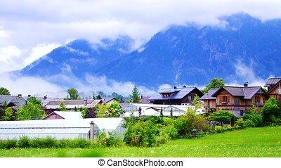 small village in swiss, Switzerland houses