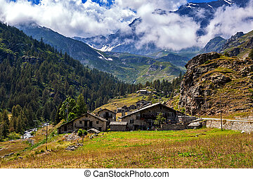 Small village in the Alps in Italy.