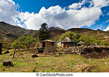 Small village in the mountains