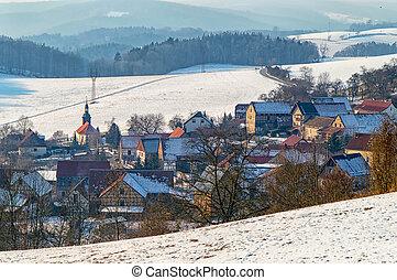 Small village in the winter I