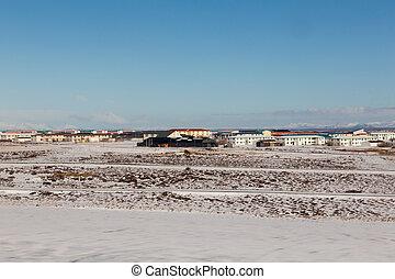 Small village in winter