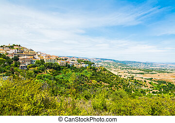 small village on a hill in Sardinia