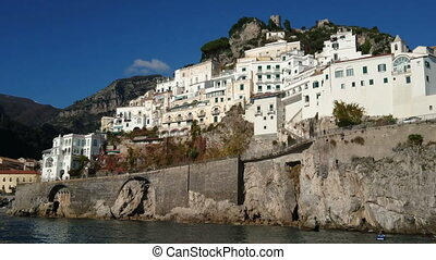 Small village on the Amalfi coast