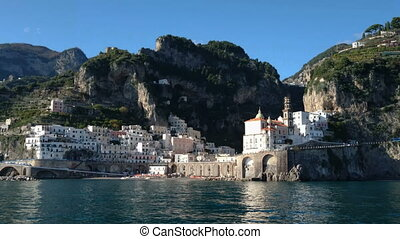 Small village on the Amalfi coast
