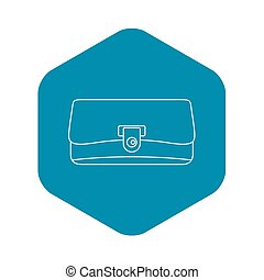 Small wallet icon, outline style