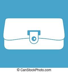 Small wallet icon white