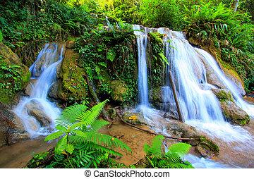 Small water fall in Chiangmai, Thailand
