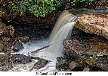 Small Waterfall At The Glade Creek Grist Mill - Waterfall At...