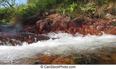 small waterfall. Australian river