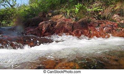 small waterfall in Australian river - Australian small...