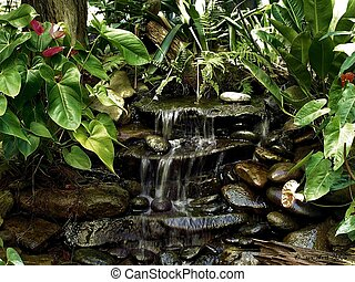Waterfall - Small Waterfall in Eureka Springs County Park, ...