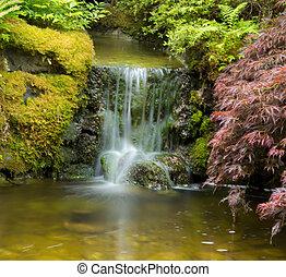 Small waterfall in feen garden