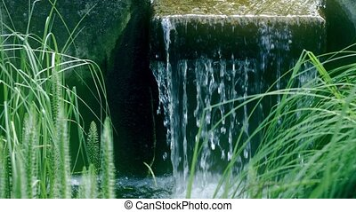 Small waterfall in the park, shot on Red camera - Small ...