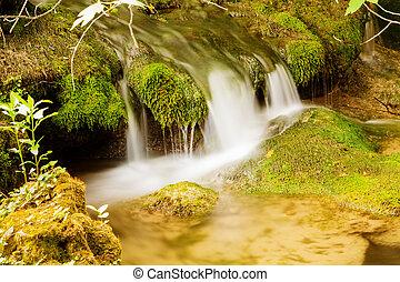 Small waterfall, Krka national park, Croatia