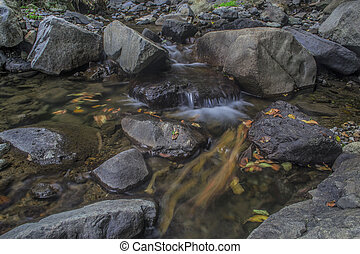 Small waterfall on a river