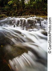Small waterfall on Tucquan Creek, in Lancaster County,...