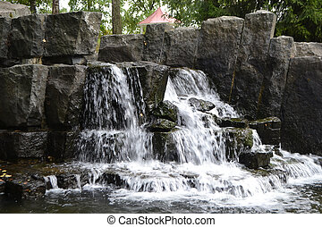 Small waterfall in Imatra, Finland.