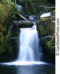 Small Waterfall - A small waterfall on a mountain stream