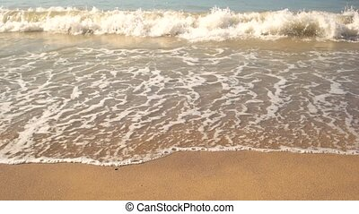 Small wave on the shore.
