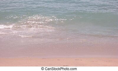 Small waves on the shore.