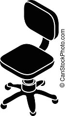 Small wheel chair icon, simple style - Small wheel chair...