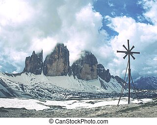 Small white chapel, May 26 2018. Tre Cime National Par