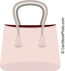Small woman bag icon isolated