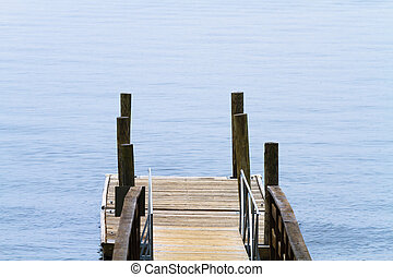 Small Wooden Boat Dock At The Lake