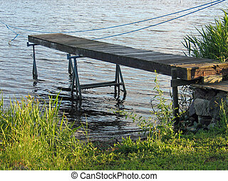 Small wooden jetty dock