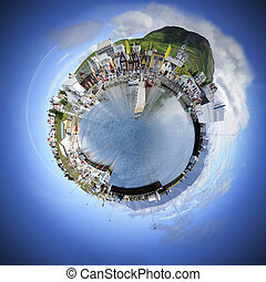 Small world sphere - Living in your own world makes life...