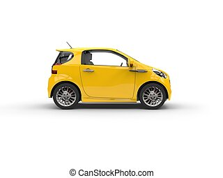 Small Yellow Compact Car