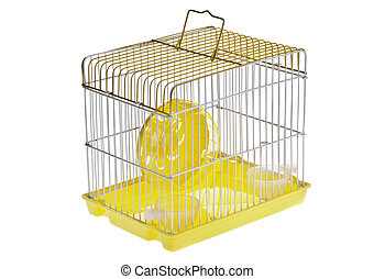 Small Yellow Hamster Cage - A yellow box in a small yellow...
