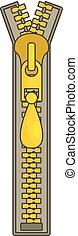Small zip icon, cartoon style